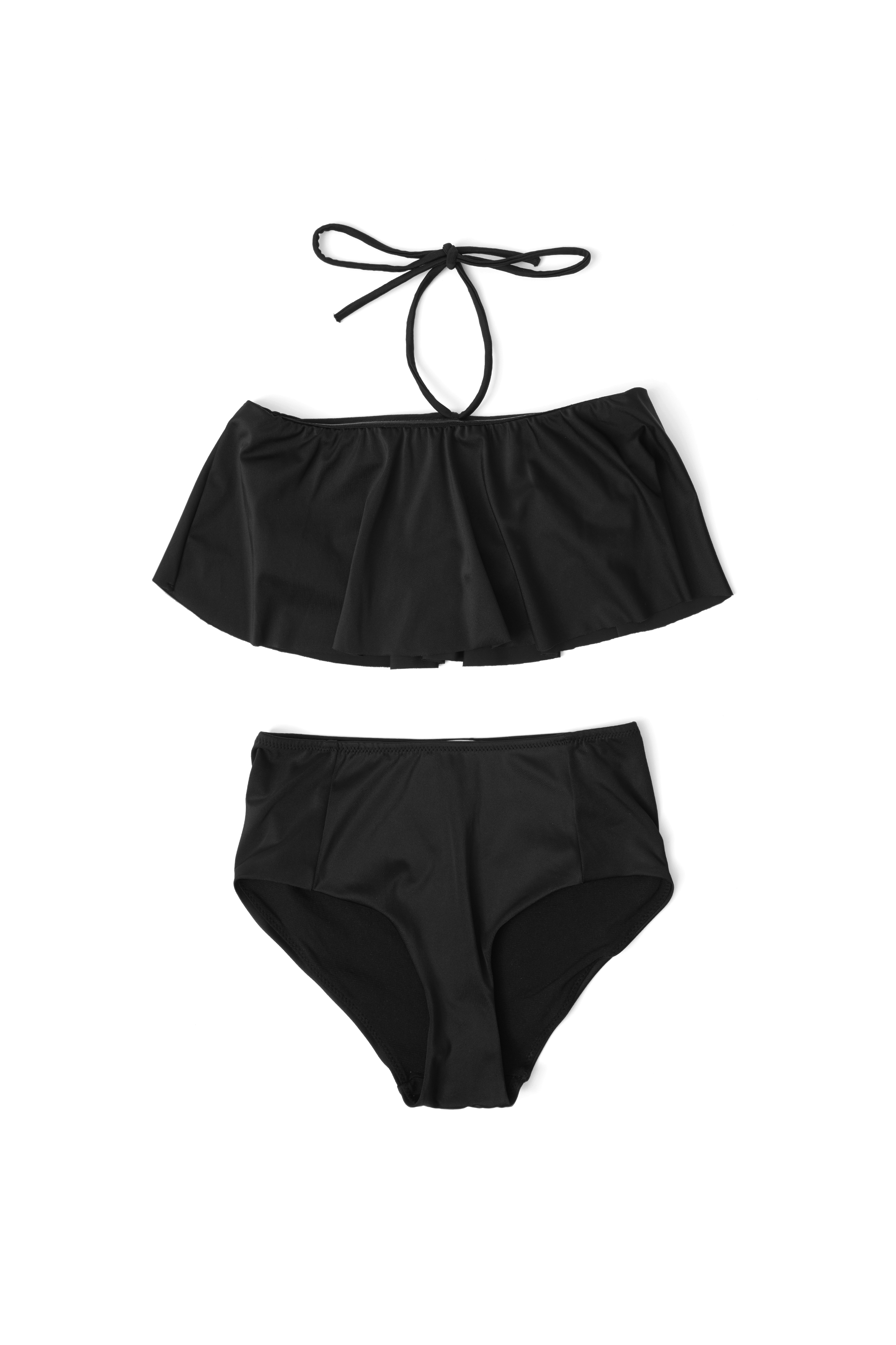 Image of   A1121, Ganni Nova Swimwear Solid, black