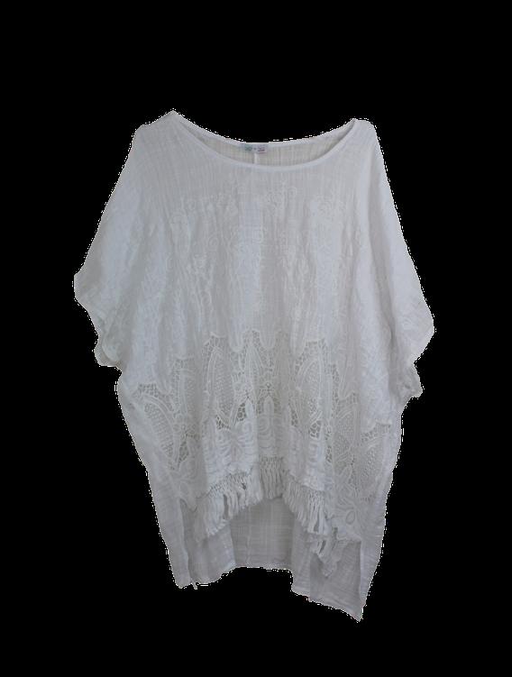 Tiffany tunika bluse, hvid fra n/a på tiffany
