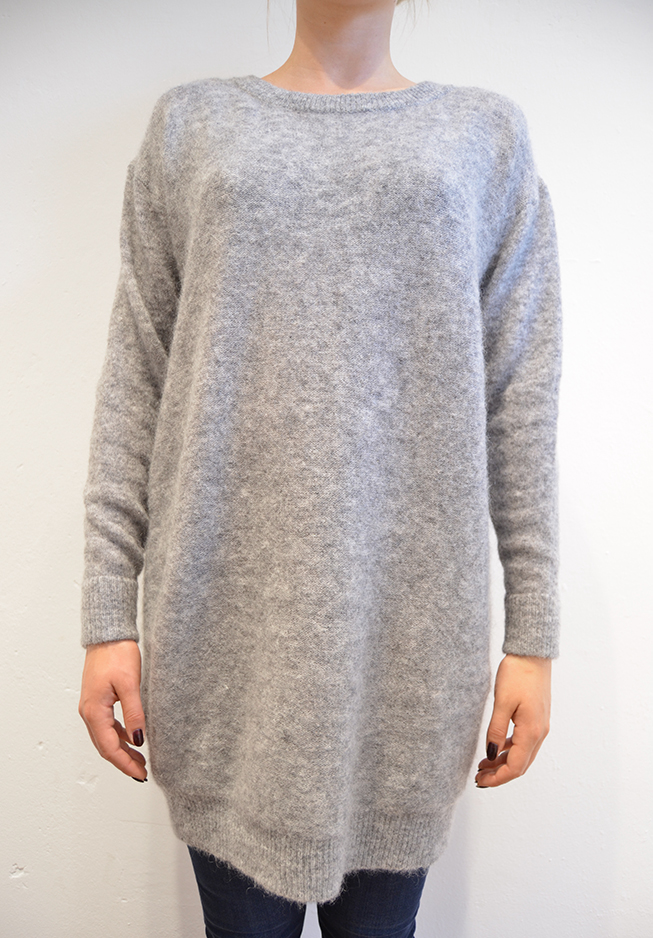 Image of   Acne strik Wham Mohair, grey melange