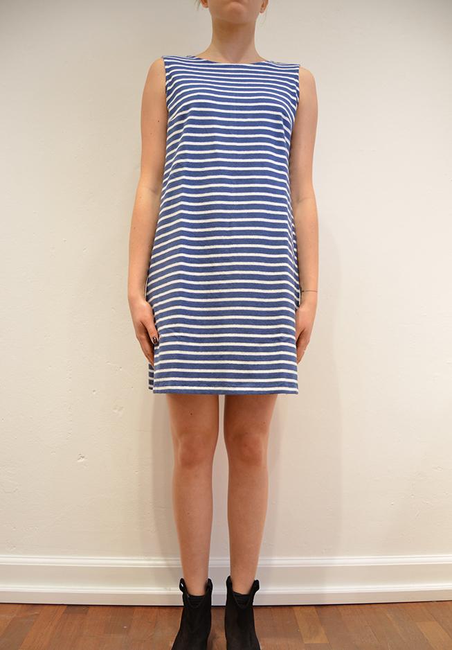 Billede af wood wood kjole, daga blåhvid