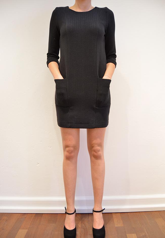 n/a Ganni kjole, herringbone t1000 fra tiffany