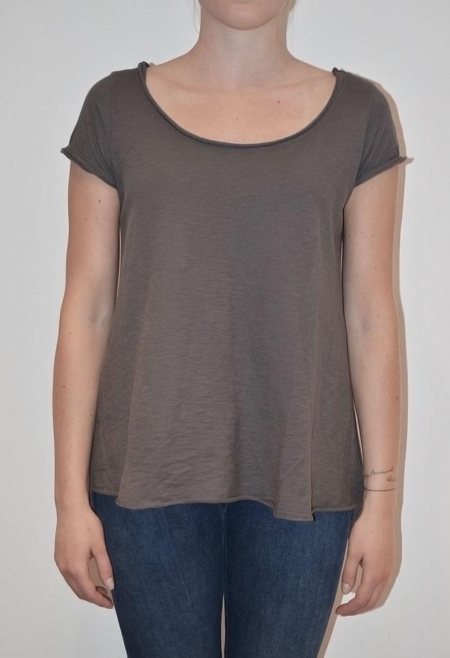 Billede af T-shirt med silkeryg, grå