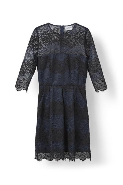 Billede af Ganni kjole, F1198 Total Eclipse/Black