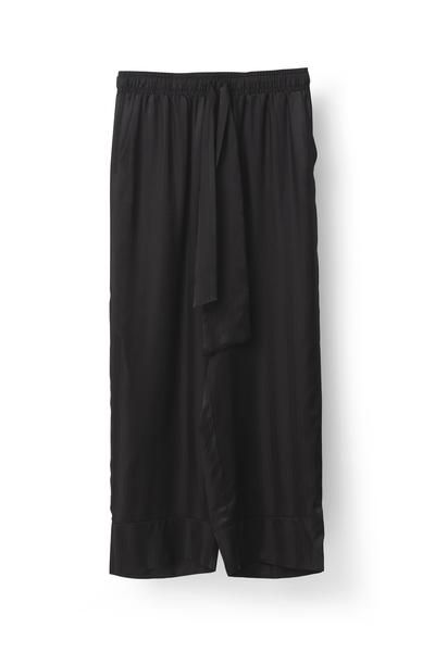 Billede af Ganni Kendal Silk Pants, f1522 black