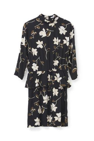 n/a Rosemont crepe dress f1544, black wild rose på tiffany