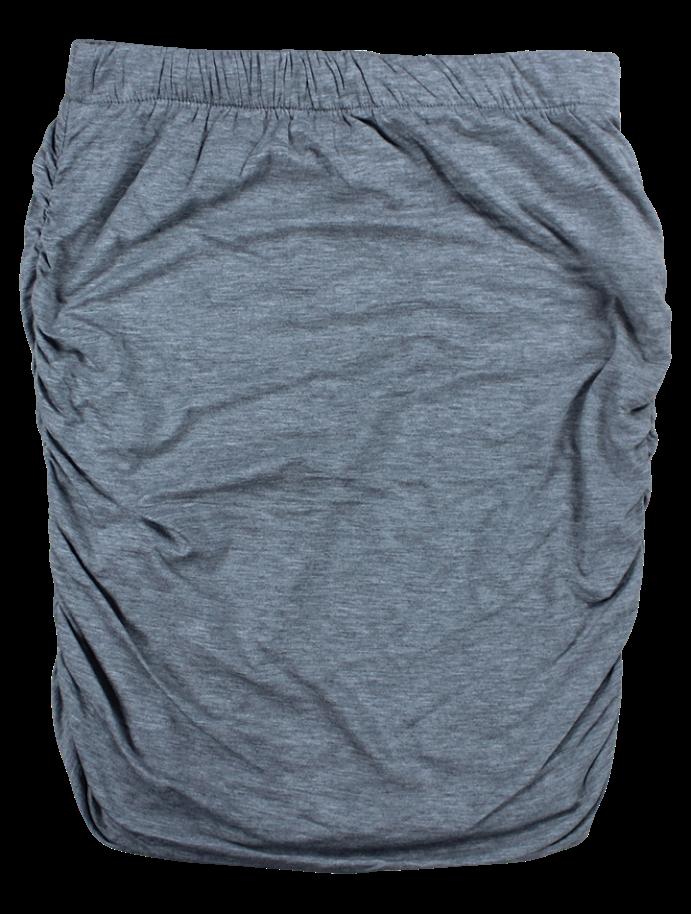 Billede af tiffany nederdel med rynk, grå