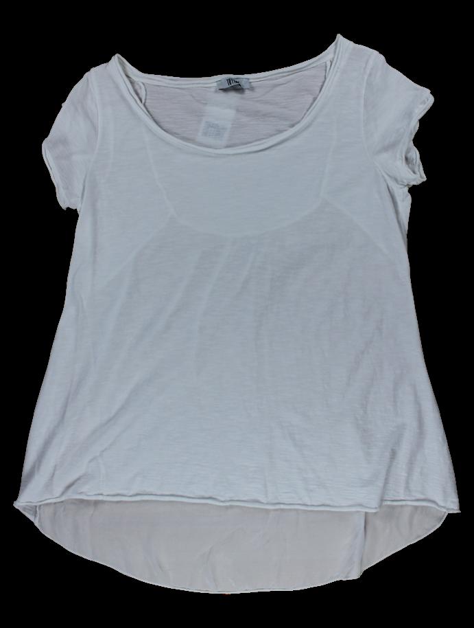 Billede af Tiffany T-shirt med silkeryg, m335 hvid