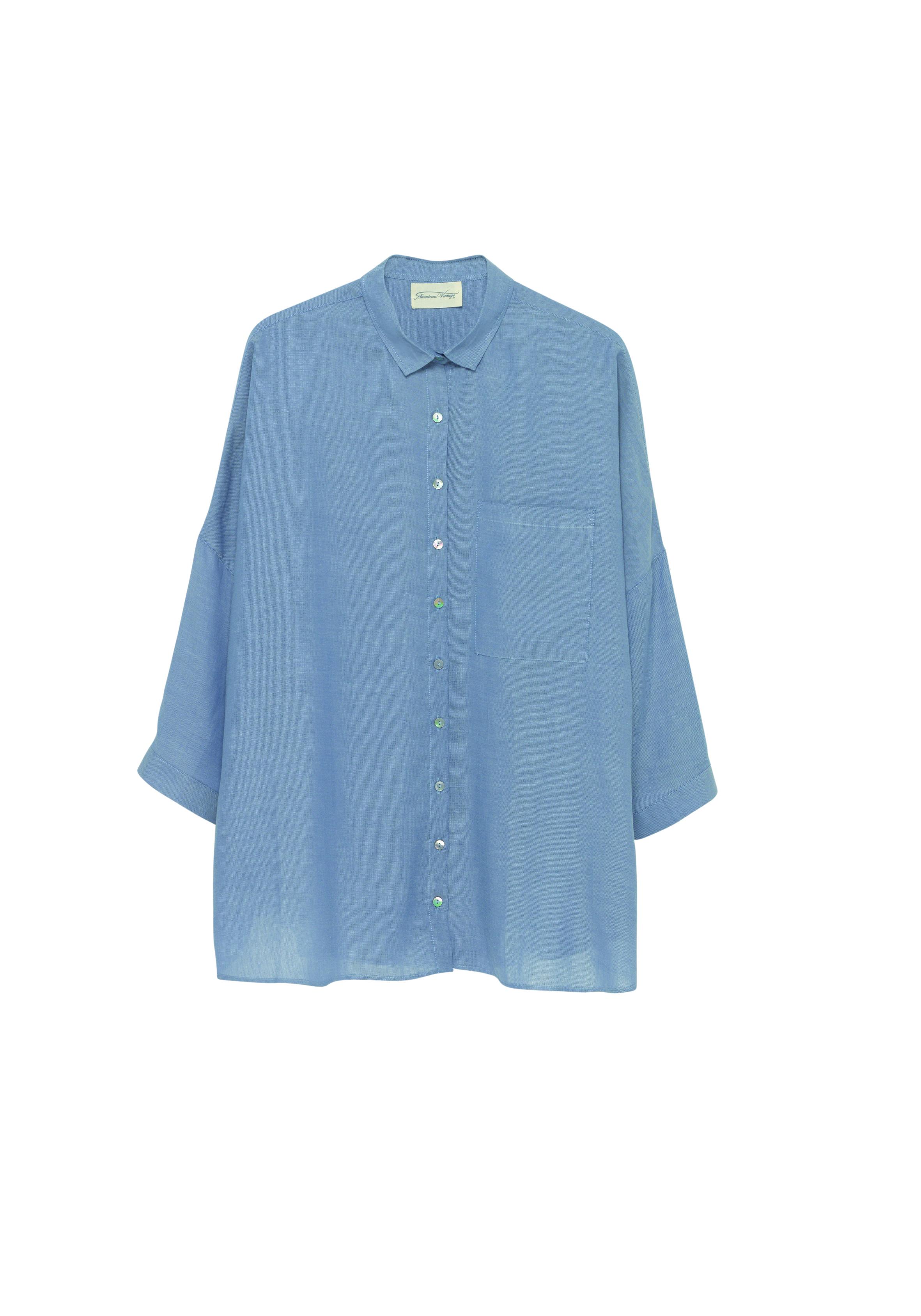 Billede af American Vintage Skjorte, TICO204 blue