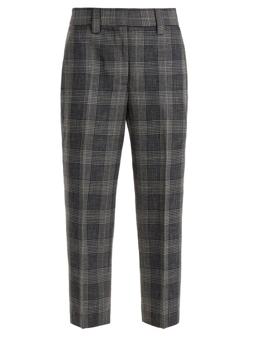 Image of   ACNE JEANS Flannel Trouser, Blue/green