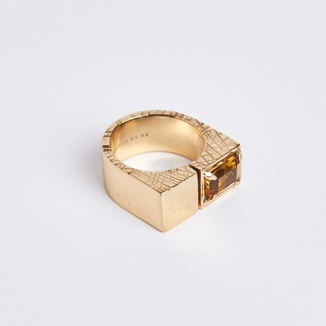 Cornelia Webb Cornelia Webb Slized Square Ring, Gold