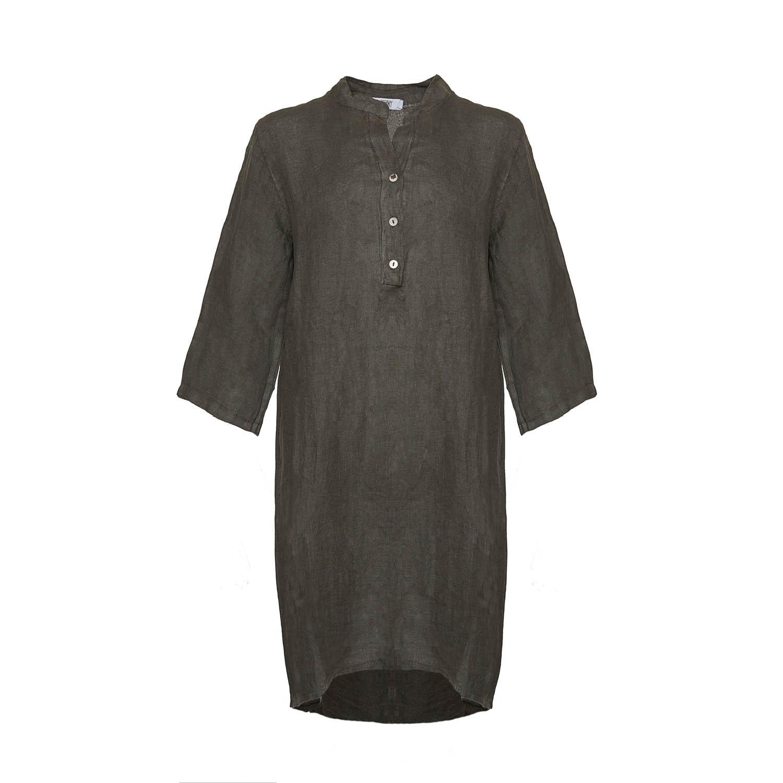 Image of   Tiffany 17690 Shirt/dress Linen, Dark Army