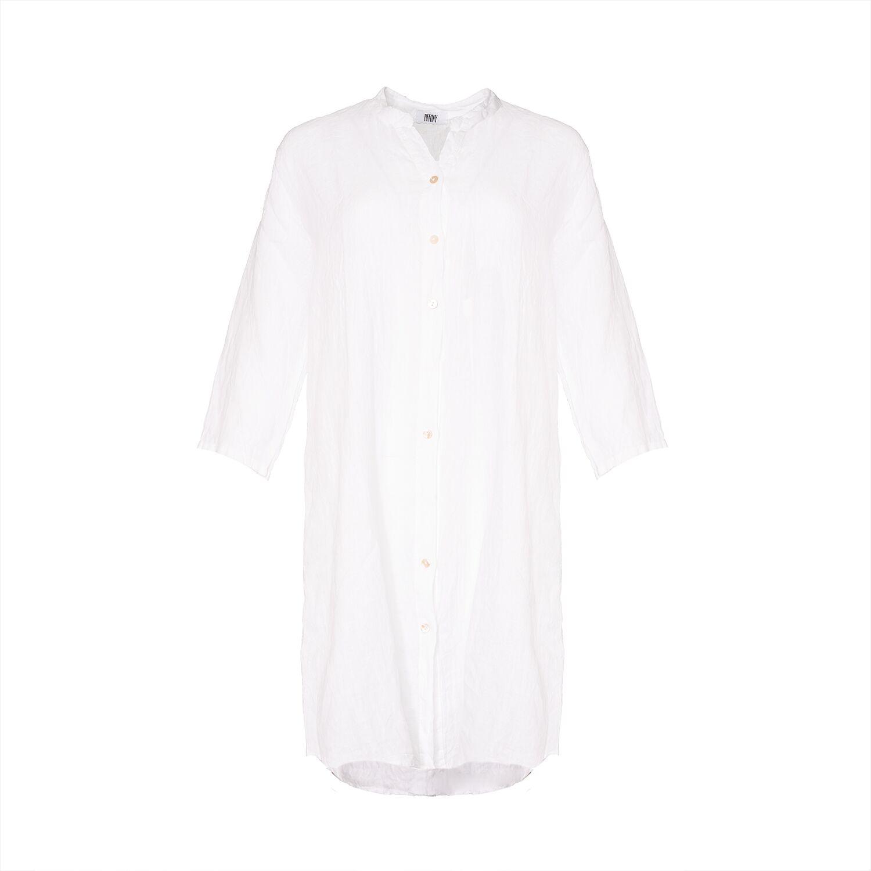 Image of   Tiffany 181013 Linen Dress, White