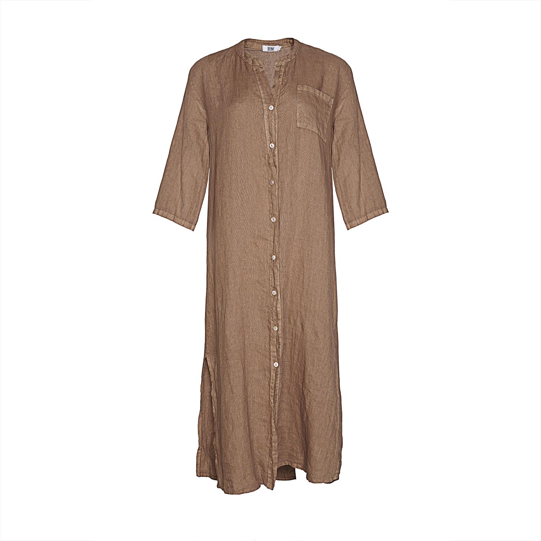 Image of   Tiffany 181015 Linen Shirt/dress, Camel