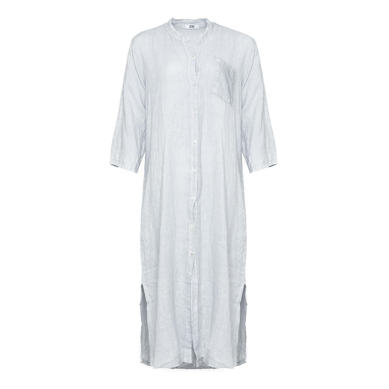 Image of   Tiffany 181015 Linen Shirt/dress, Pearl Grey