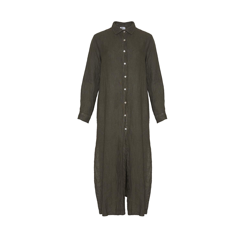Image of   Tiffany 181031 Shirt/dress Linen, Dark Army