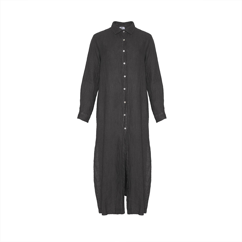 Image of   Tiffany 181031 Shirt/dress Linen, Dark Grey