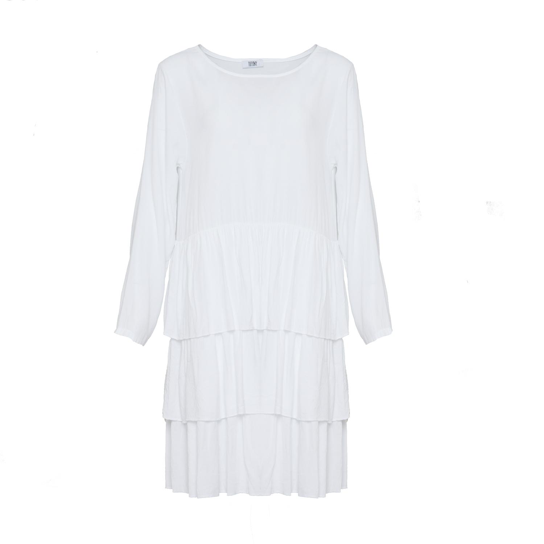 Image of   Tiffany 181130 Dress Viskose, White