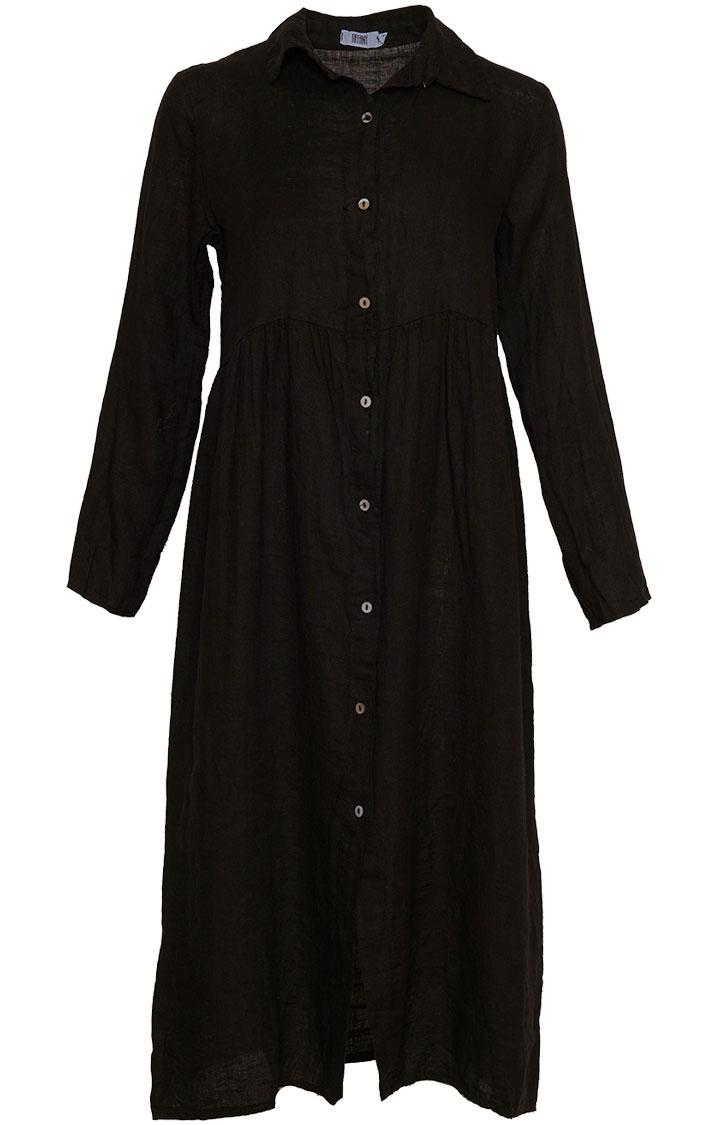 Image of   Tiffany 181168 Linen Dress, Black