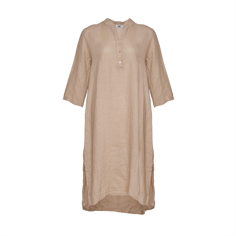 Image of   Tiffany 18970 X Long Shirt Dress Linen, Beige