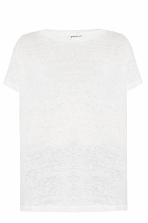 Image of   Acne Studios Eldora Linen Tee, Off White