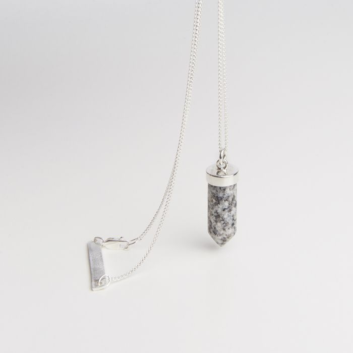 Image of   Cornelia Webb Cornelia Webb Charmed Stone Necklace, Silver