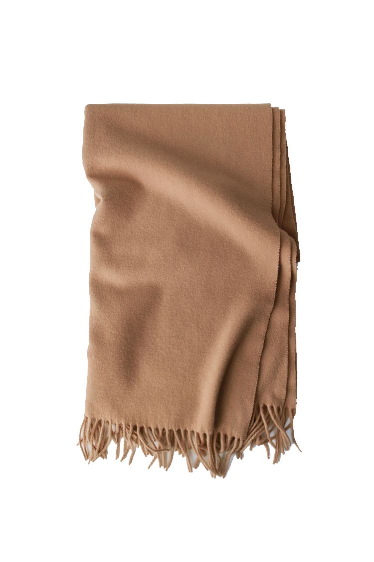 Image of ACNE JEANS Canada Scarf Wool, Caramel Brown