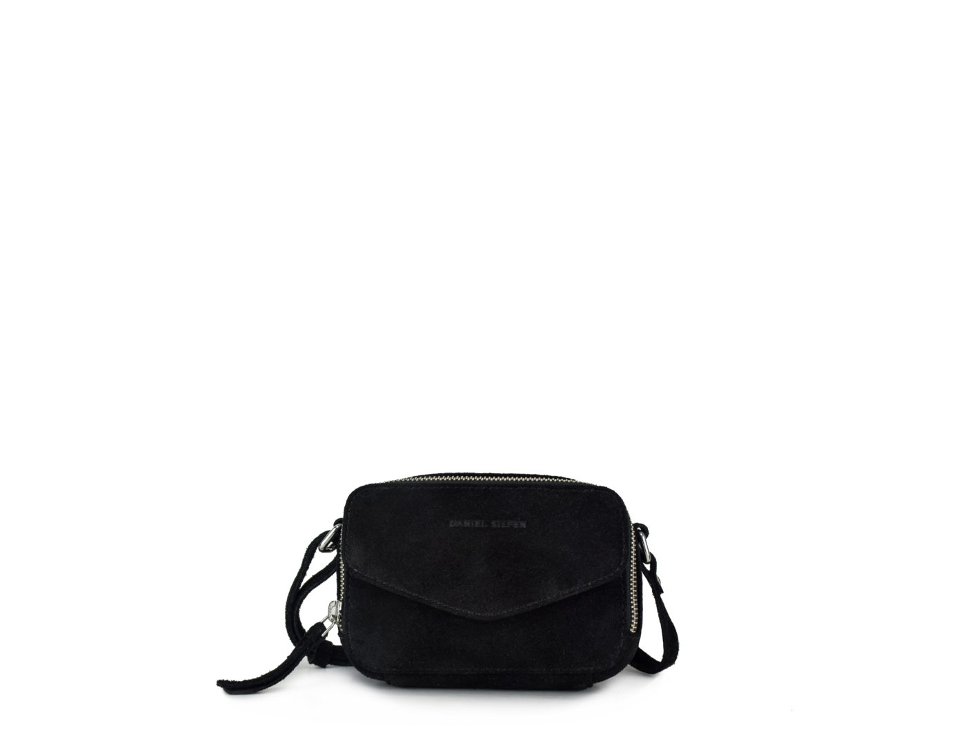Image of   Daniel Silfen Katrine Bag, Black Suede