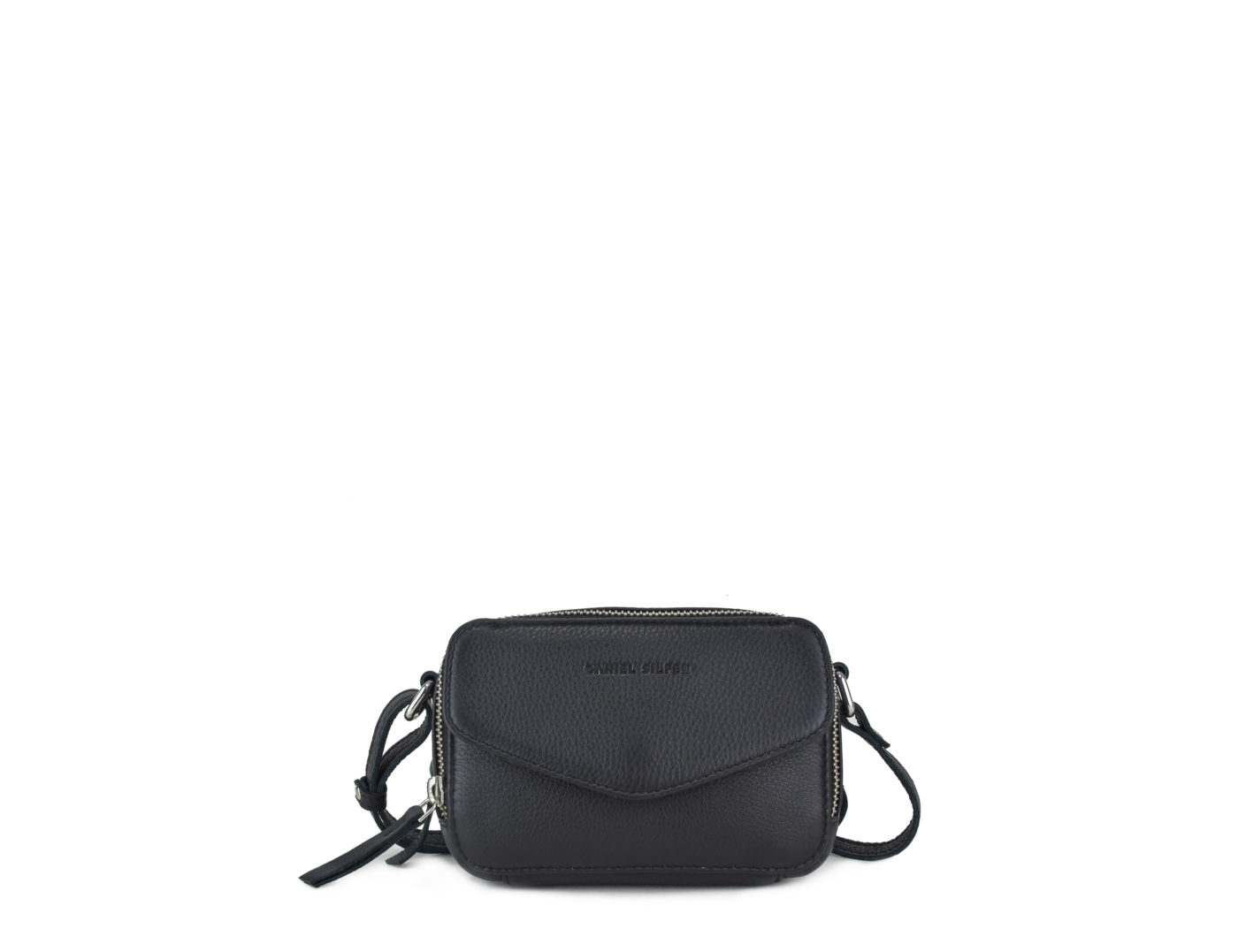 Image of   Daniel Silfen Katrine Bag, Black Leather