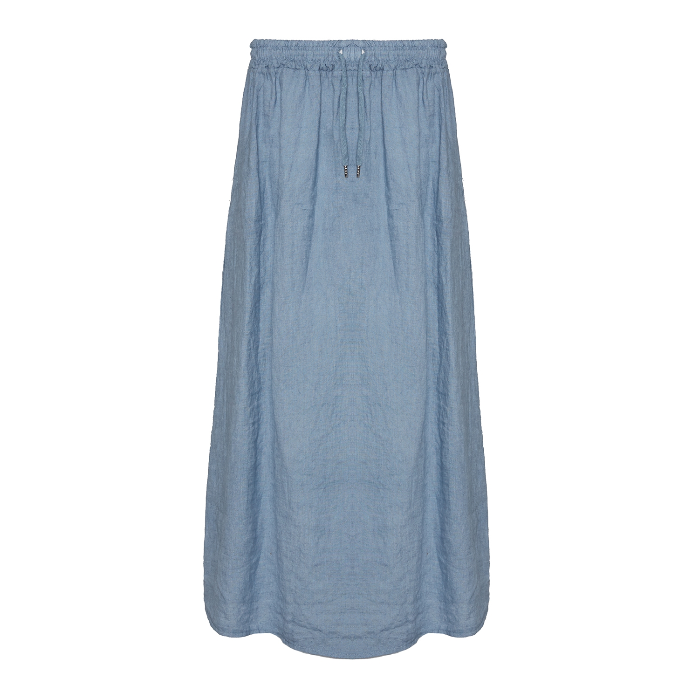 Tiffany Blå Lang Nederdel