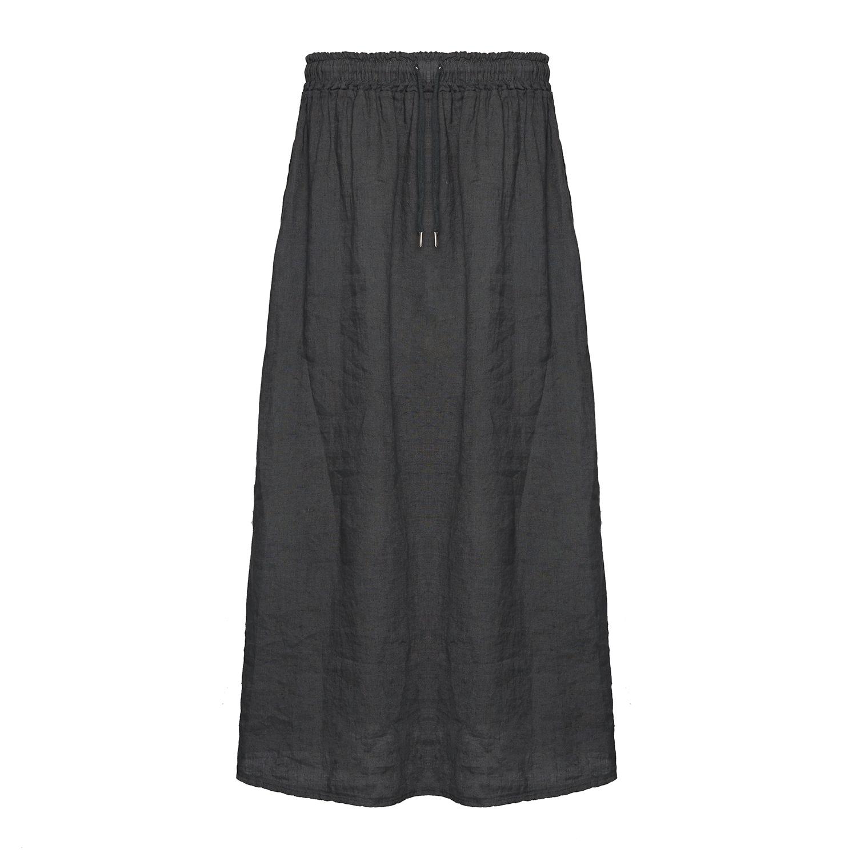 Tiffany Mørkegrå Lang Nederdel