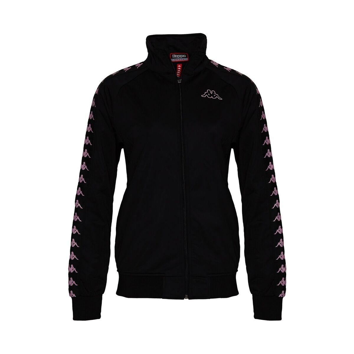 Kappa Kappa Track Jacket, Black-Pink