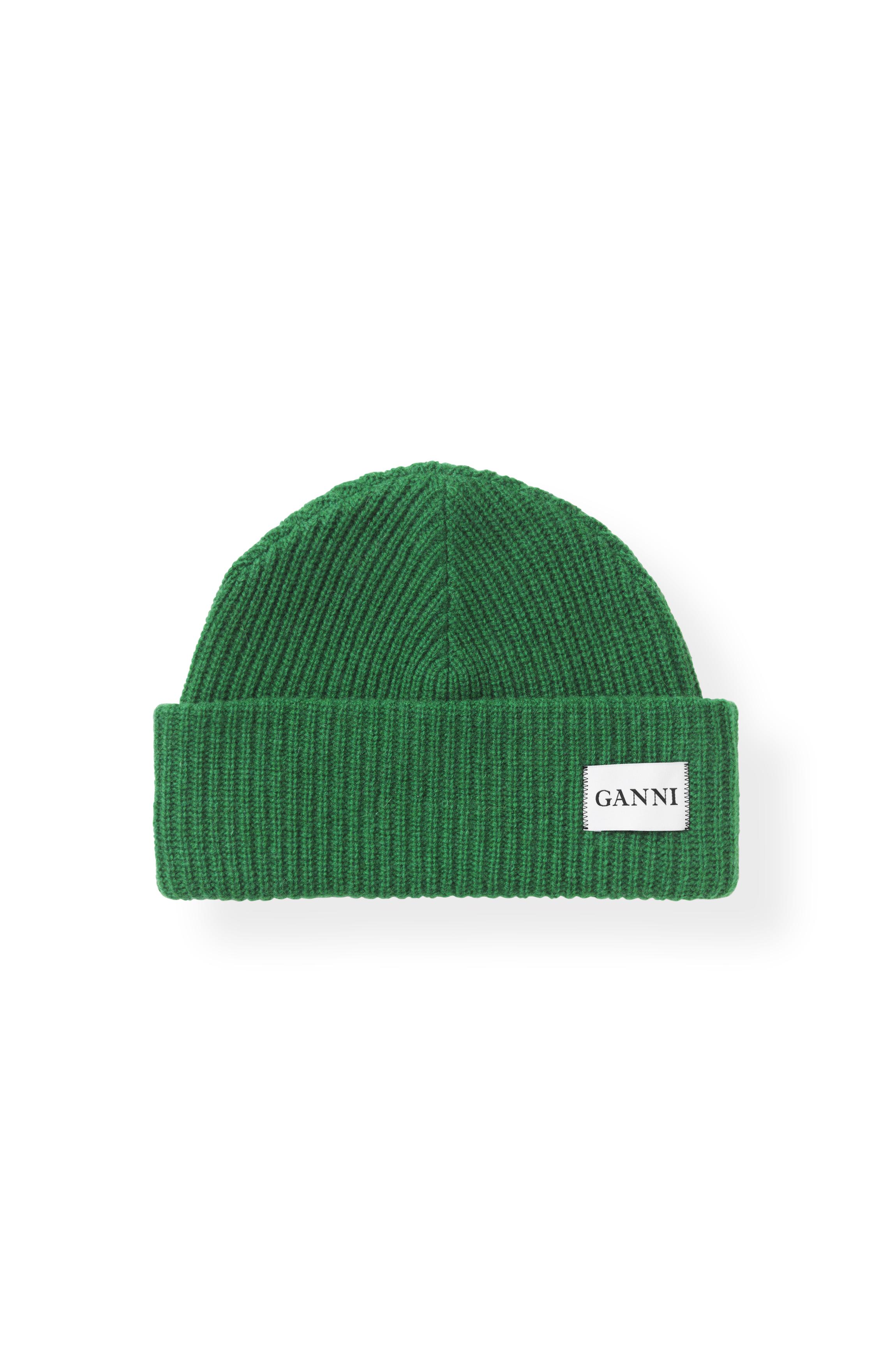 Image of   Ganni A1630 Hat Knit, 807 Juniper
