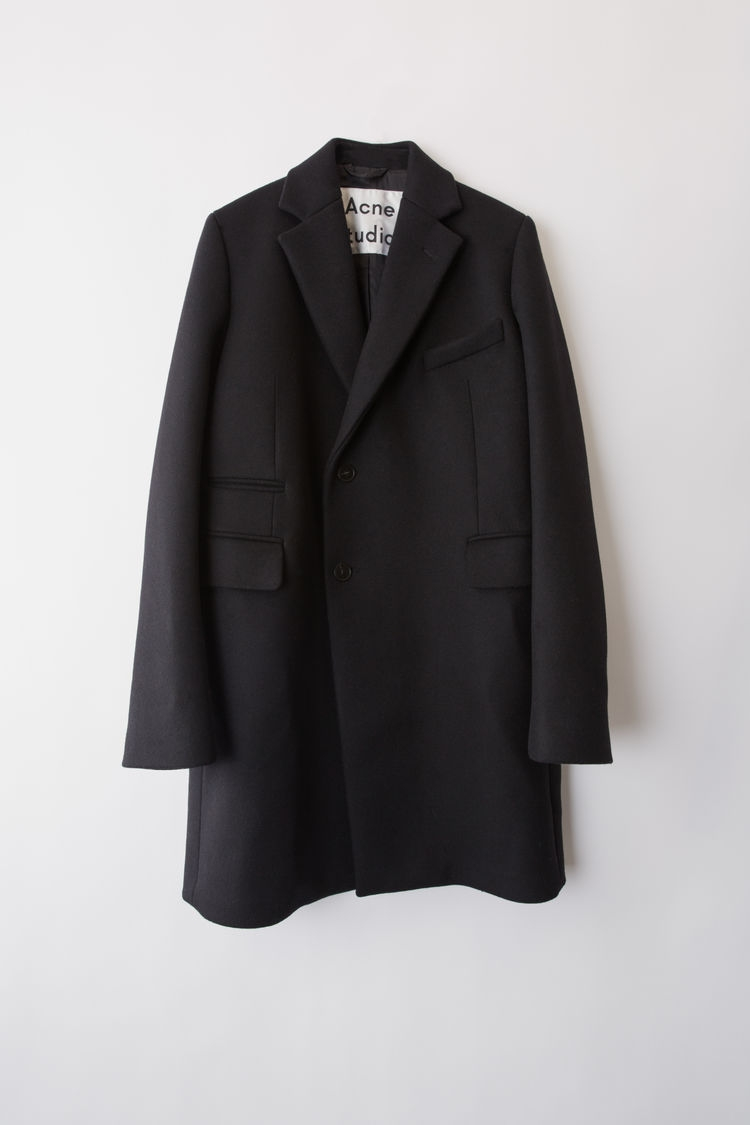 Image of   ACNE JEANS Boiled Wool Jacket, Black