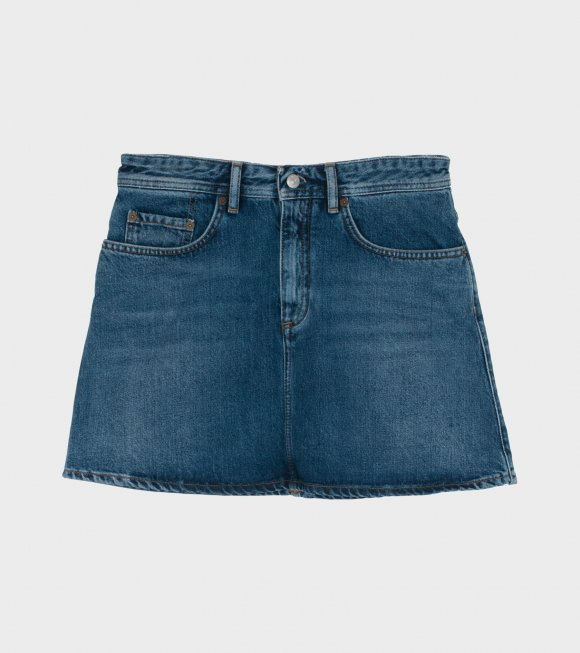 Image of   ACNE STUDIOS Caitlyn Denim Skirt, Mid Blue