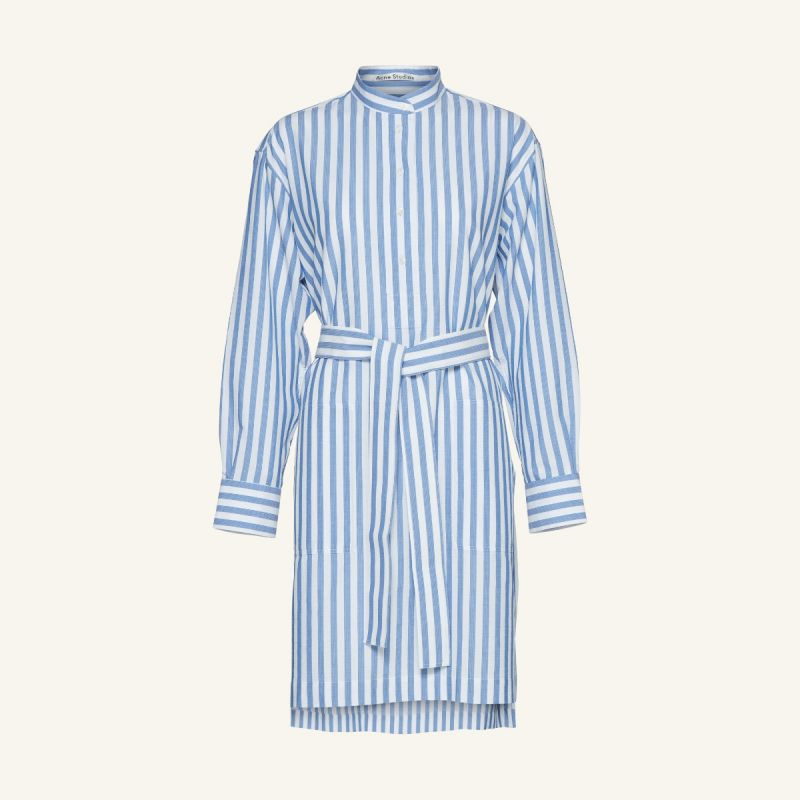 Image of   ACNE STUDIOS Fn-wn-dres000148 Derin Stripe Waffle, Blue/white