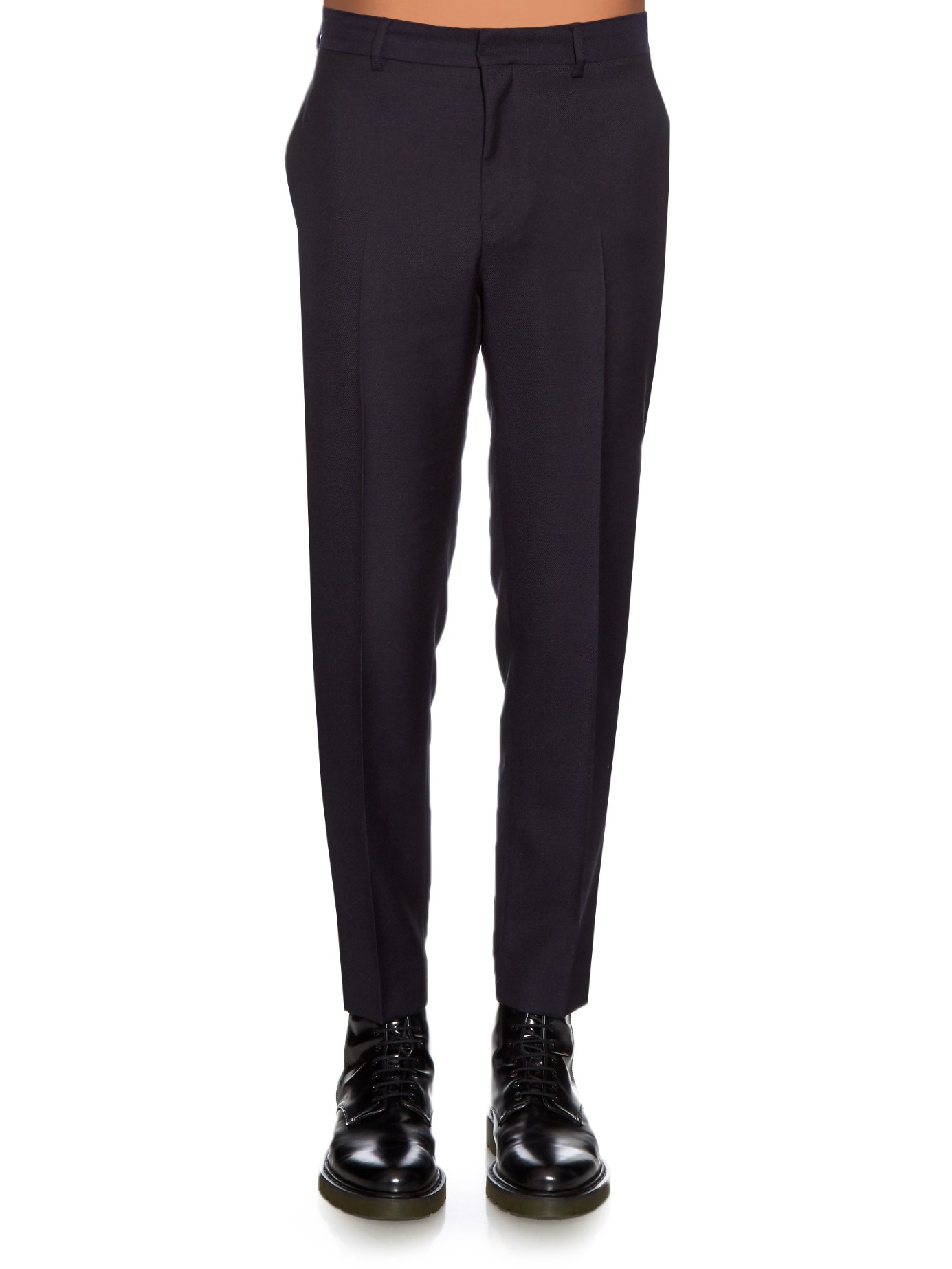 Image of ACNE STUDIOS Acne Studios Uld Mohair Suit Pants Sort