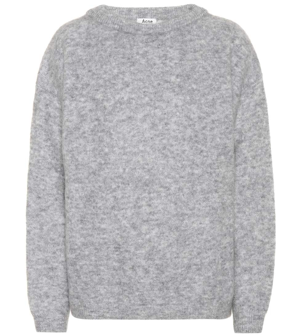 Image of   Acne Studios Dramatic Mohair Knit, Husky Grey