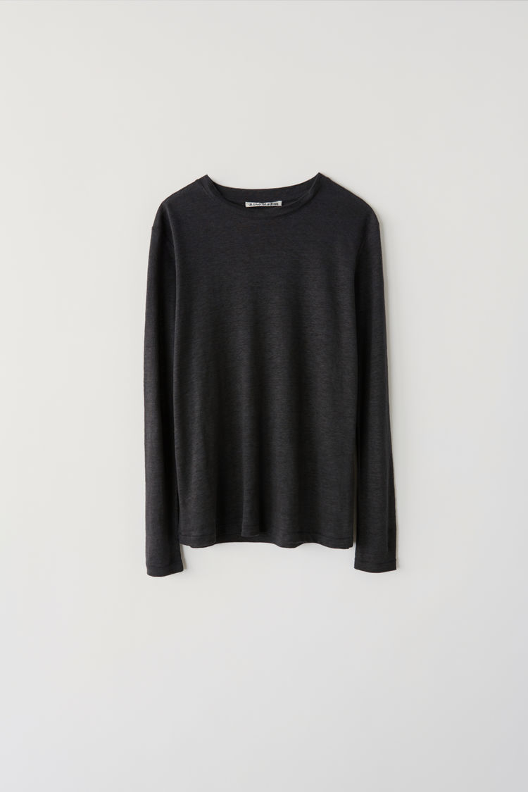 Image of   ACNE STUDIOS Taline Ls Linen, Anthracite Grey