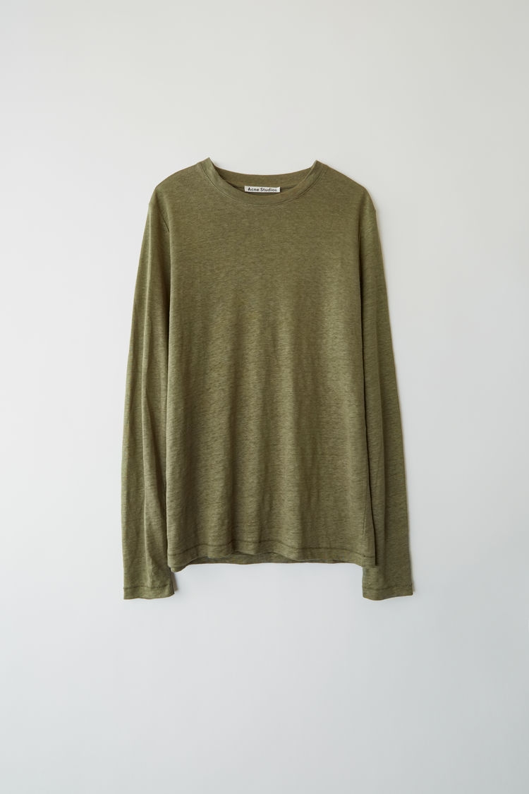 Image of   ACNE JEANS Taline Ls Linen, Forest Green