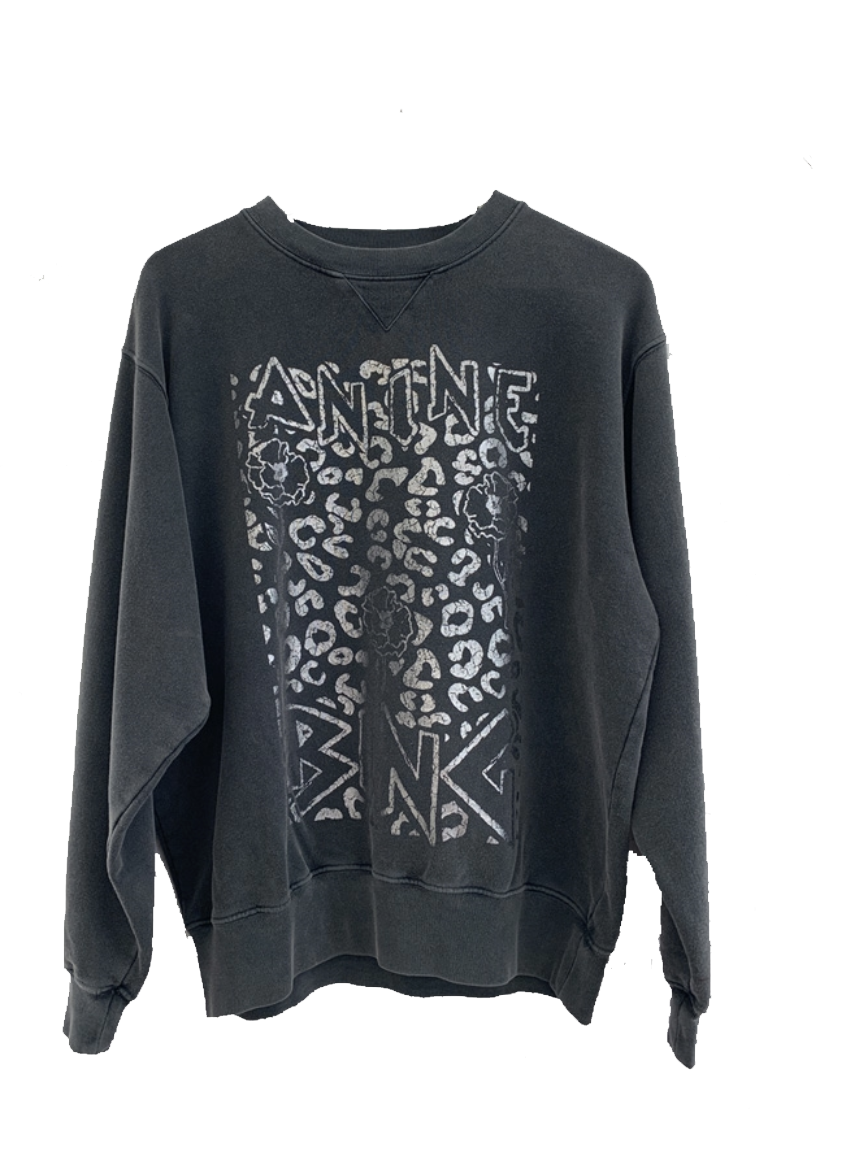 Image of   ANINE BING Anine Bing Ramona Panther Sweatshirt Mørkegrå