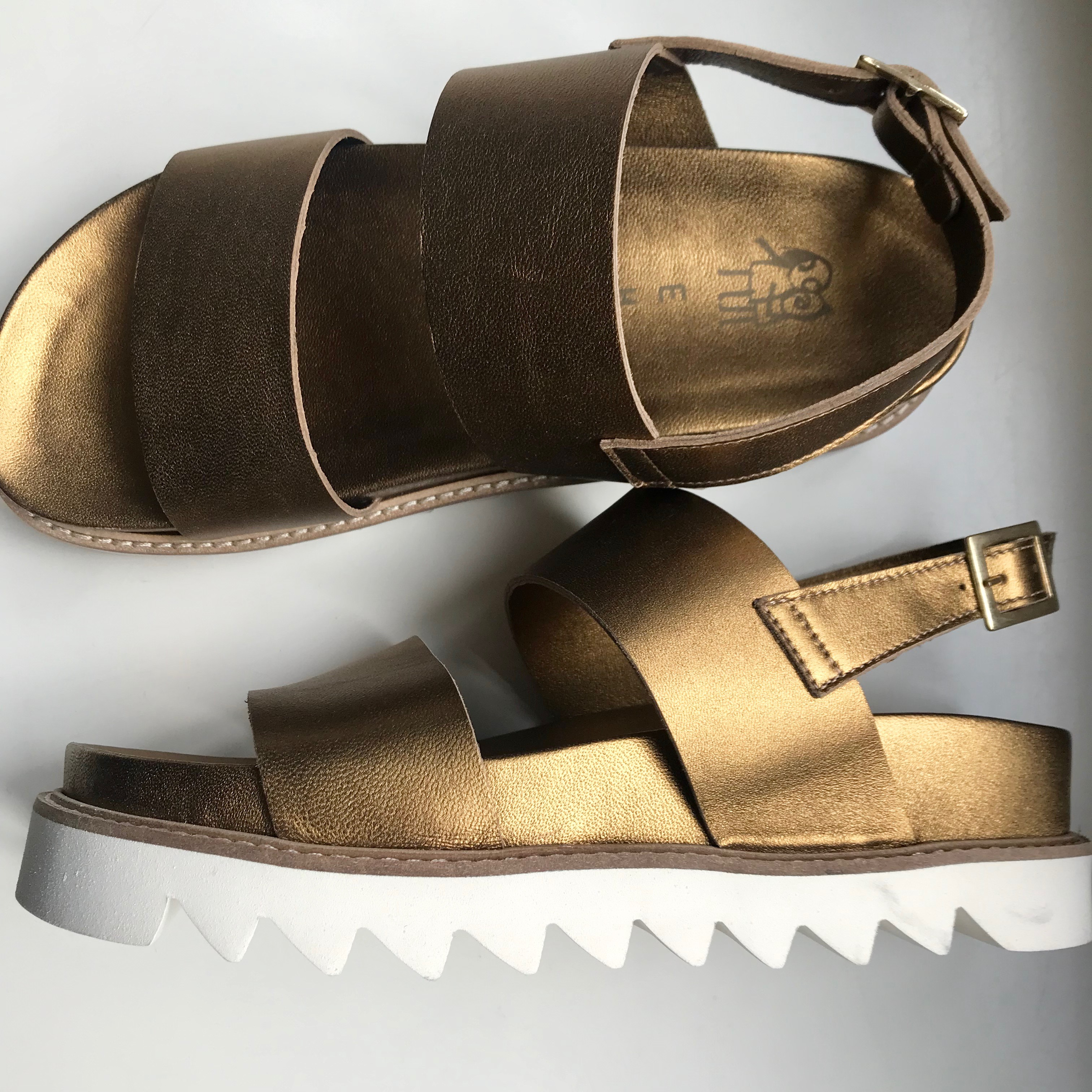 EHM Gritt Metallic Sandal, Bronzo