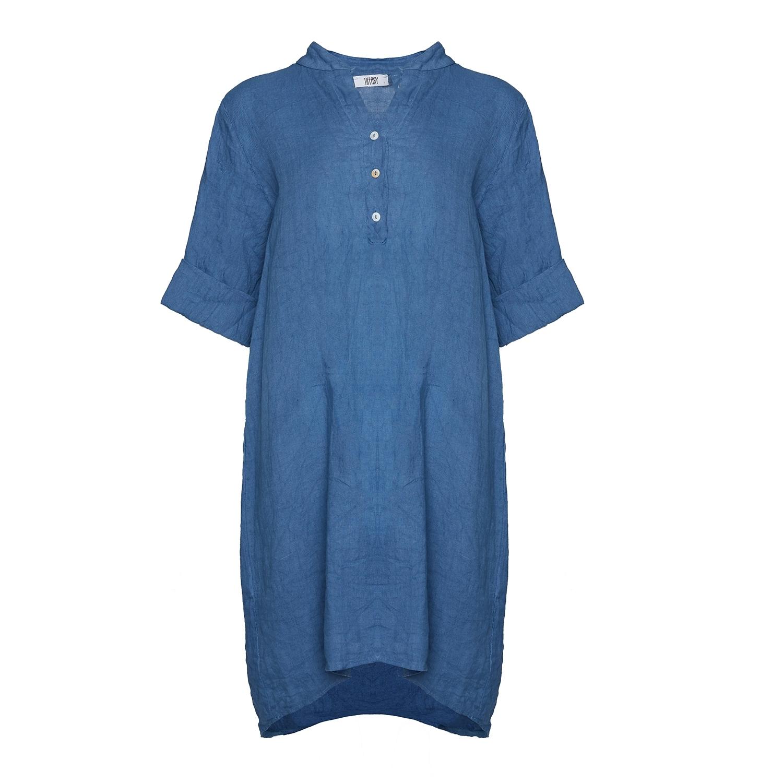 Billede af Tiffany 17690 Shirt/dress Linen, Jeans Blue