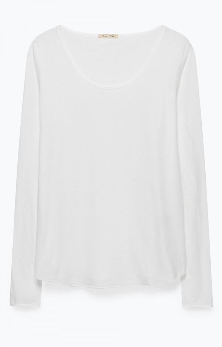 American Vintage Langærmet tynd trøje, Blanc CHIP12H18