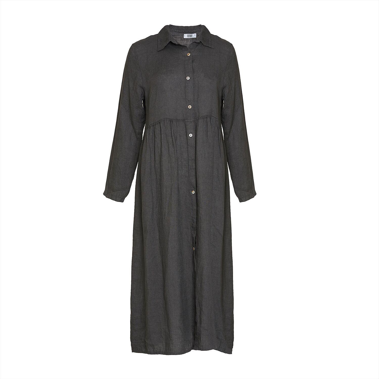 Image of   Tiffany 181168 Linen Dress, Dark Grey