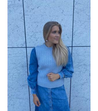 Ganni K1528 Vest Wool Mix, 574 Airy Blue