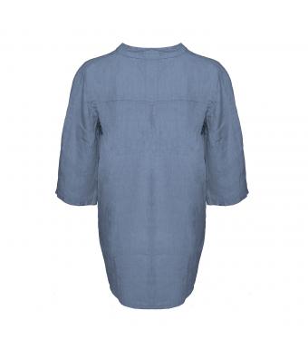 Tiffany Skjorte, Hør, 17661, Denim Blue