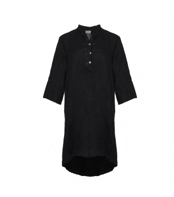 Tiffany 17690 Dress Linen, Black