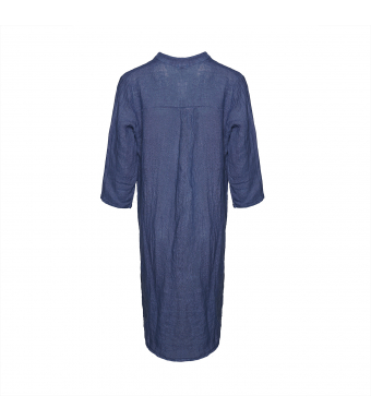 Tiffany 17690 Long Shirt Linen, Denim Blue