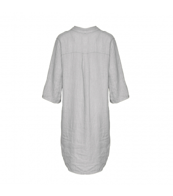 Tiffany 17690 Long Shirt Linen, Pearl Grey