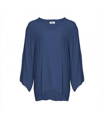 Tiffany Viskose Bluse 181098, Denim Blue